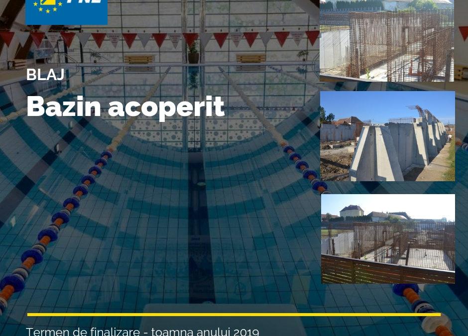Lucrări în grafic la bazinul acoperit de înot din Blaj