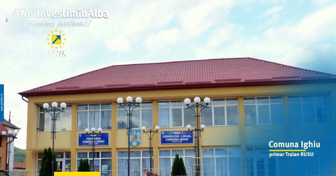Comuna Ighiu: un an prielnic pentru dezvoltarea locală. Investiții în toate domeniile.
