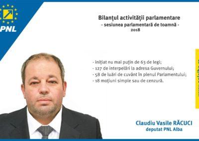 Claudiu Răcuci: Bilanțul activității parlamentare în sesiunea de toamnă