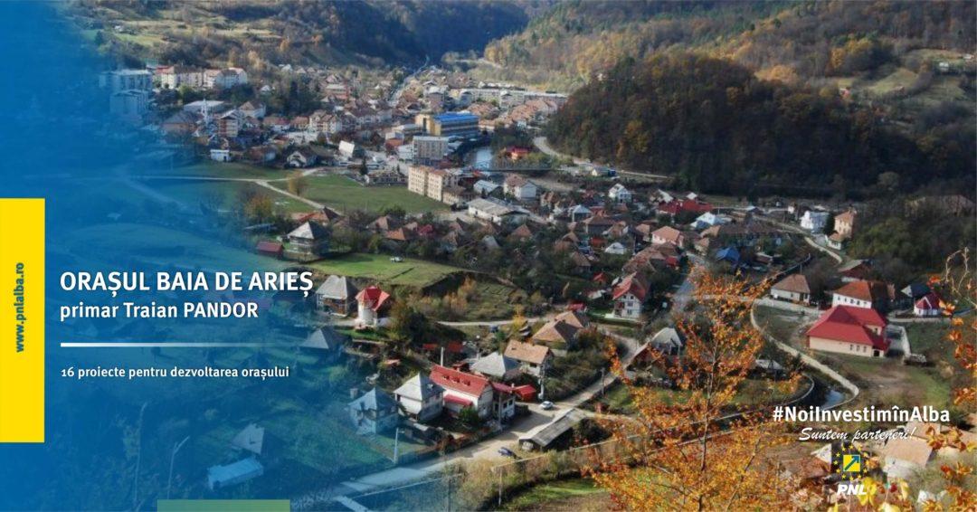 Orașul Baia de Arieș: accesăm fonduri pentru îmbunătățirea infrastructurii