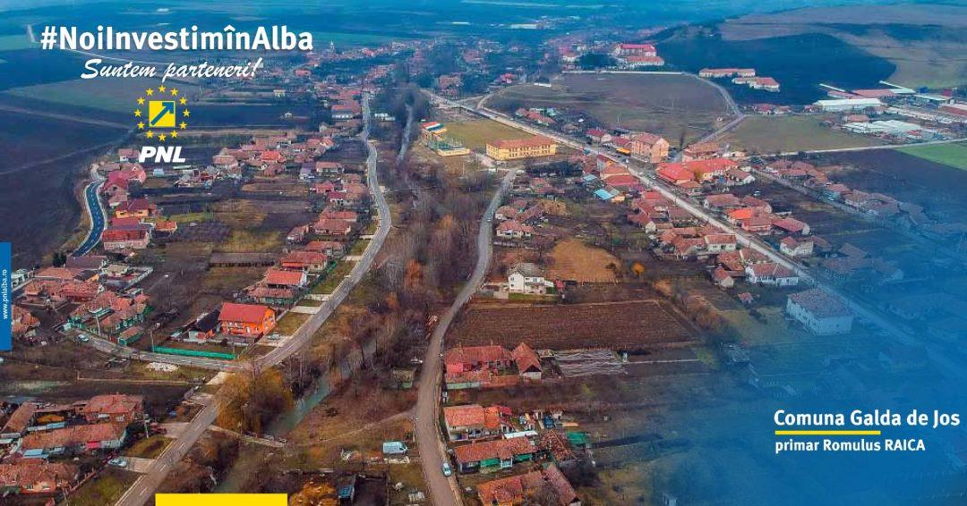 Comuna Galda de Jos: s-au atras constant investiții pentru buna dezvoltare