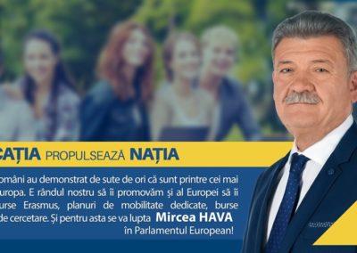 Mircea Hava, candidat europarlamentare: EDUCAȚIA propulsează NAȚIA