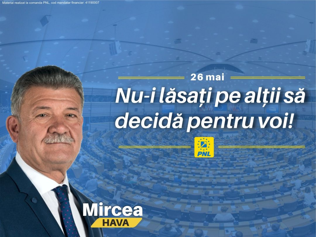 Mircea Hava: Nu-i lăsați pe alții să decidă pentru voi!