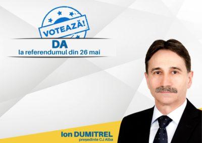 Ion Dumitrel: Votați DA la referendumul din 26 mai pentru o Românie normală și un viitor european