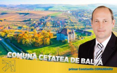 Constantin Comandaru: În ultimii 4 ani am reușit îmbunătățirea condițiilor de viață în comuna Cetatea de Baltă