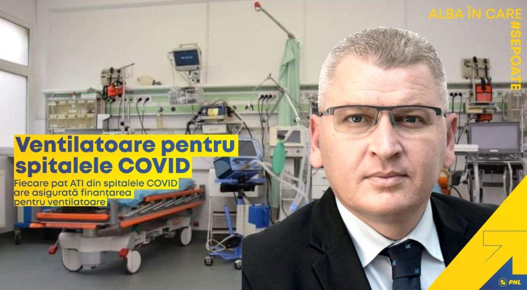 Florin Roman, liderul deputaților PNL: Fiecare pat ATI din spitalele COVID are asigurată finanțarea pentru ventilatoare
