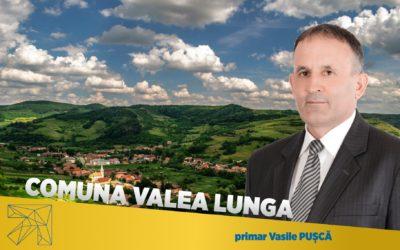 Vasile Puşcă: Comuna Valea Lungă a atras cele mai multe fonduri europene