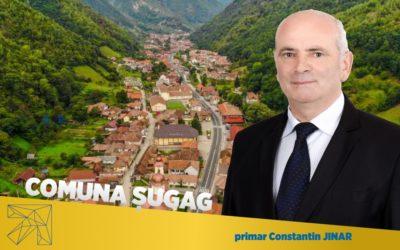 Constantin Jinar: În comuna Șugag rezultatele fondurilor atrase se pot vedea în orice loc