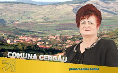 Lenuţa Aldea: În Comuna Cergău toate domeniile sunt cuprinse în portofoliul de investiţii