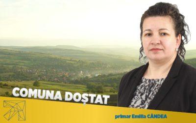 Emilia Cândea: În comuna Doștat vom continua proiectele de modernizare