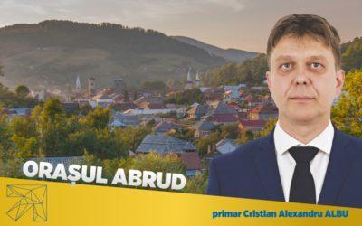 Cristian Alexandru Albu: Pasul meu spre Primărie este pasul oraşului Abrud spre Europa