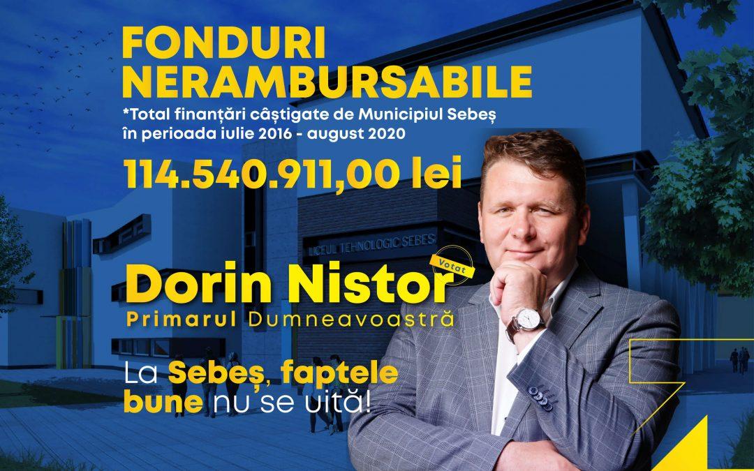 Primarul liberal Dorin Nistor a demonstrat că la Sebeș s-a putut într-un singur mandat ceea ce nu s-a făcut în 4 mandate