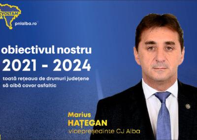 Marius Hațegan, vicepreședinte CJ Alba: Obiectivul nostru pentru mandatul 2020-2024 – toată rețeaua de drumuri aflată în administrarea CJ Alba, în lungime de 870 km, cu asfaltă