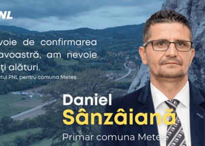 Daniel Sânzâiană: Am nevoie de confirmarea dumneavoastră, am nevoie să îmi fiţi alături