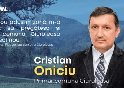 Experienţă liberală în administraţia locală la Ciuruleasa. Cristian Oniciu – startul spre mai bine